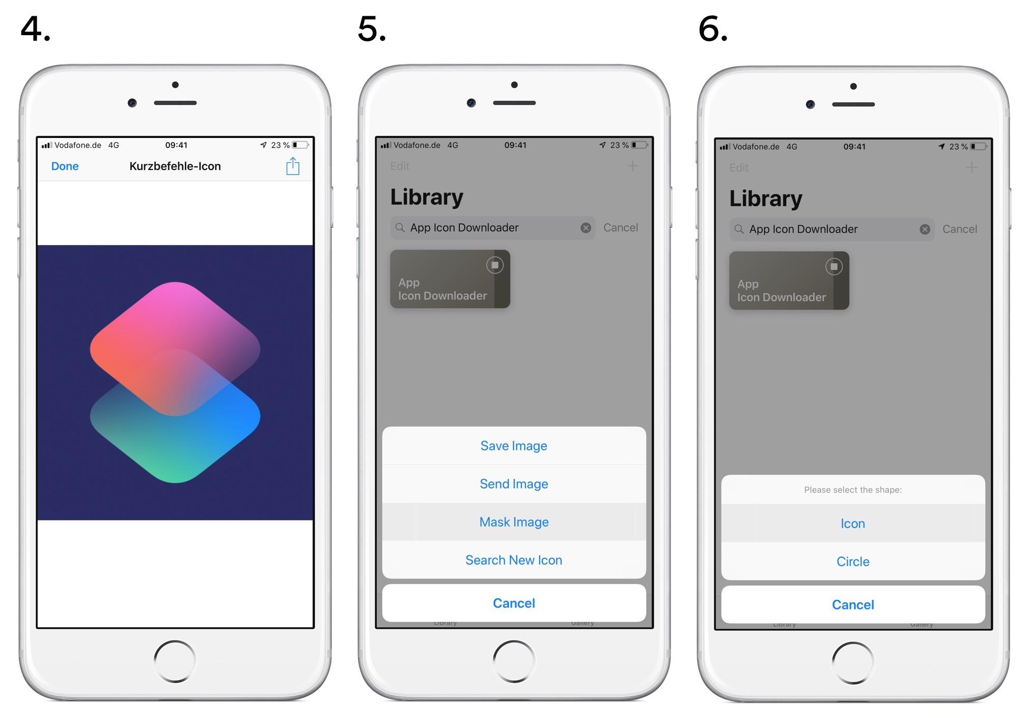 App Icon Downloader Step 4–6